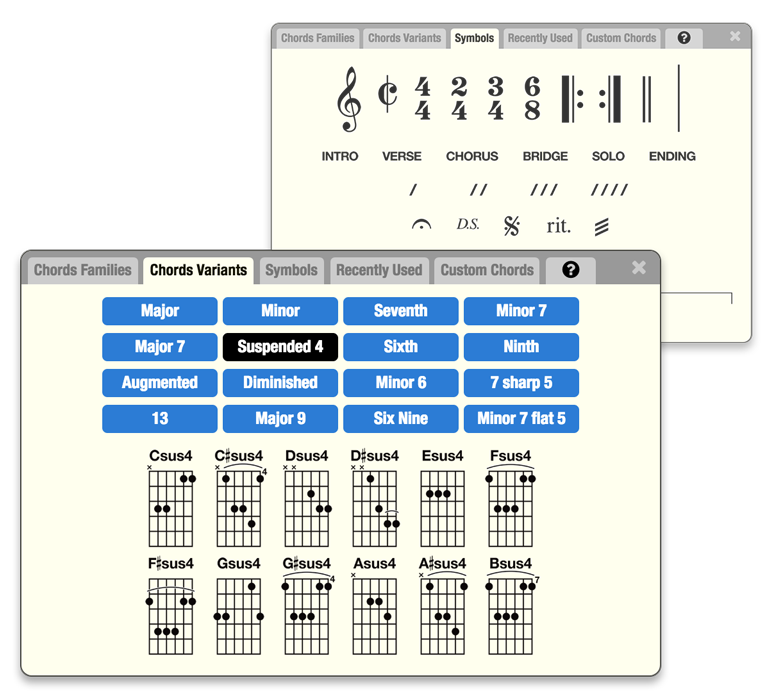 GoChords® - A Web-Based Tool For Writing and Playing Songs - You Don